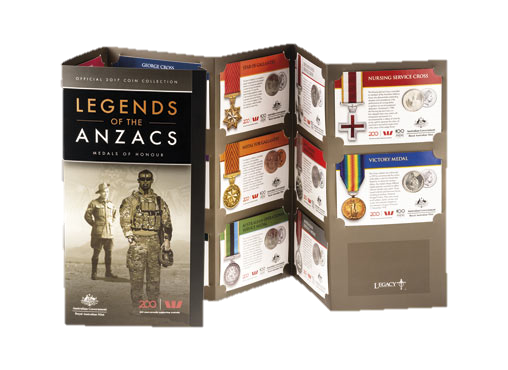 Thumbnail for 2017 Official 15 Coin Collection - Legends of the Anzacs Medals of Honour