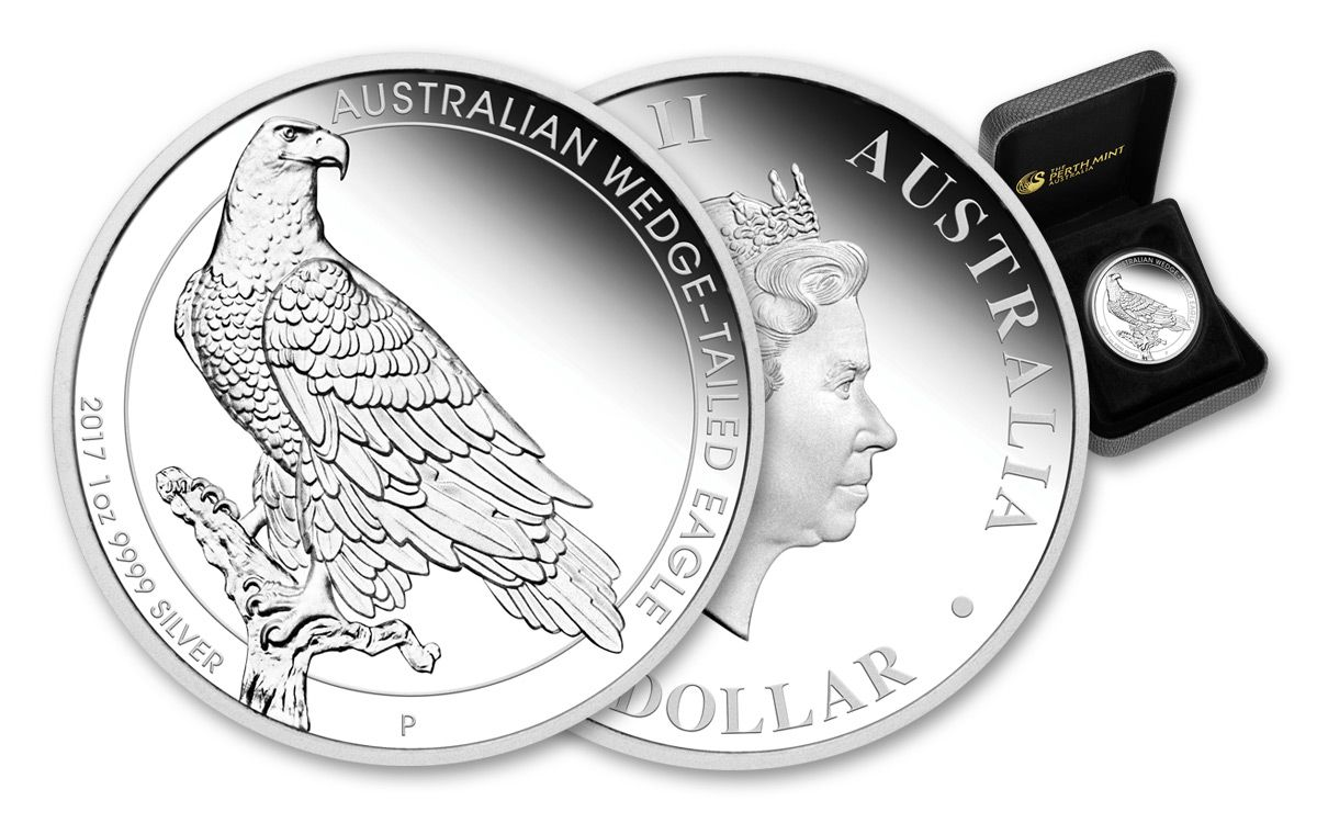 Thumbnail for 2017 Australian 1oz Silver Wedged Tailed Eagle Proof Coin