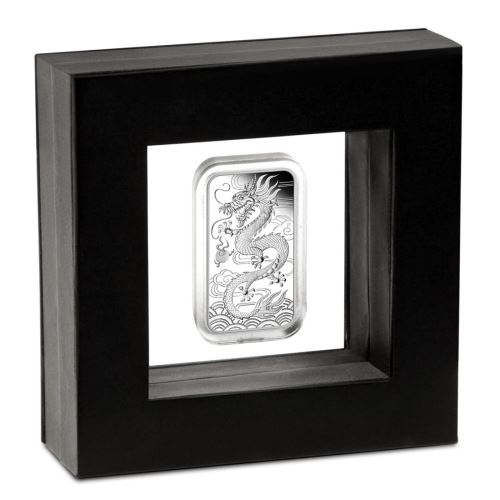 Thumbnail for 2018 1oz Rectangular Dragon Silver Proof Coin