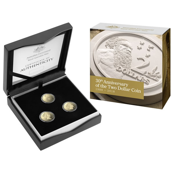 Thumbnail for 2018 30th Anniversary of the $2.00 Coin – Three Coin Proof Set