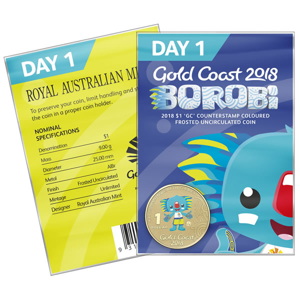Thumbnail for 2018 Commonwealth Games Coloured Borobi Dollar - Day 1