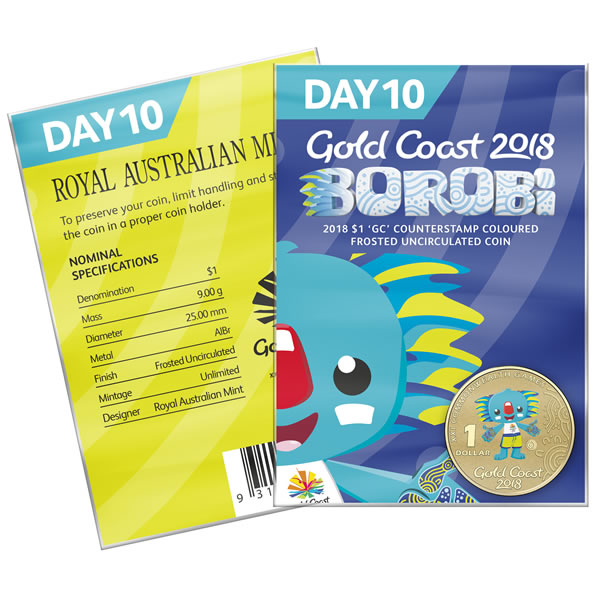 Thumbnail for 2018 Commonwealth Games Coloured Borobi Dollar - Day 10