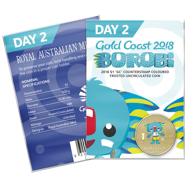 Thumbnail for 2018 Commonwealth Games Coloured Borobi Dollar - Day 2