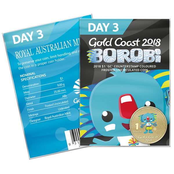 Thumbnail for 2018 Commonwealth Games Coloured Borobi Dollar - Day 3