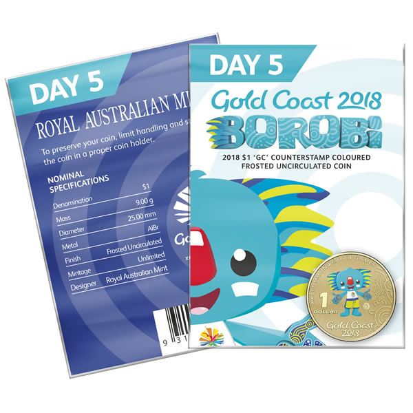 Thumbnail for 2018 Commonwealth Games Coloured Borobi Dollar - Day 5