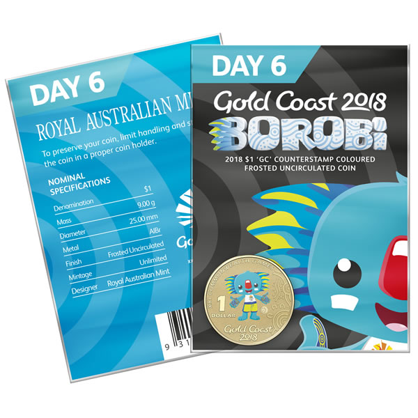 Thumbnail for 2018 Commonwealth Games Coloured Borobi Dollar - Day 6