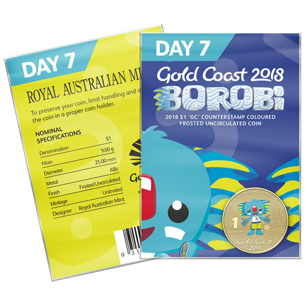 Thumbnail for 2018 Commonwealth Games Coloured Borobi Dollar - Day 7