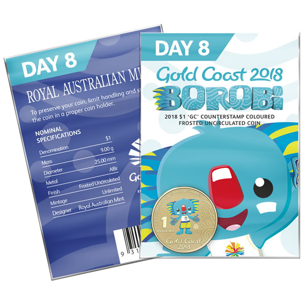 Thumbnail for 2018 Commonwealth Games Coloured Borobi Dollar - Day 8