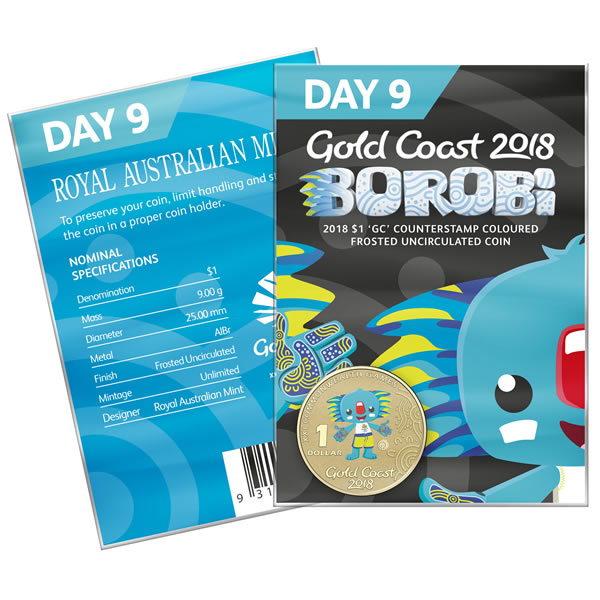 Thumbnail for 2018 Commonwealth Games Coloured Borobi Dollar - Day 9