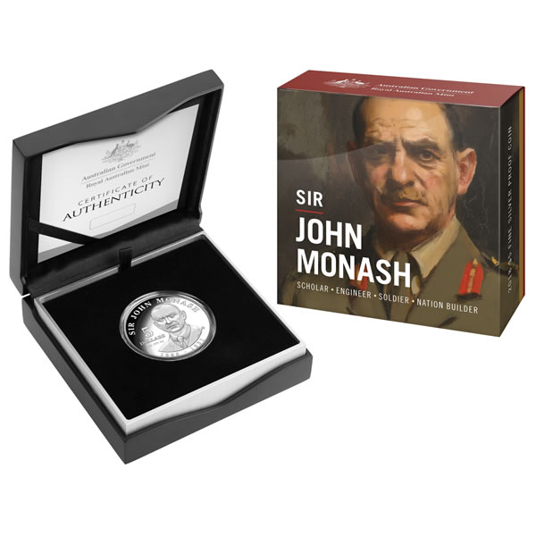 Thumbnail for 2018 Sir John Monash Silver $5.00 Proof Coin