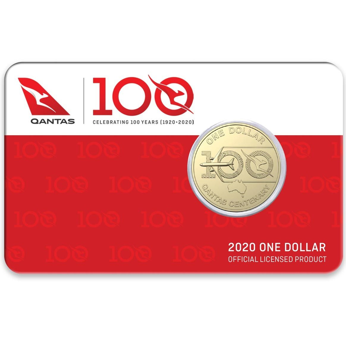 Thumbnail for 2020  QANTAS Centenary - Celebrating 100 Years $1 AlBr UNC Coin on DCPL Card