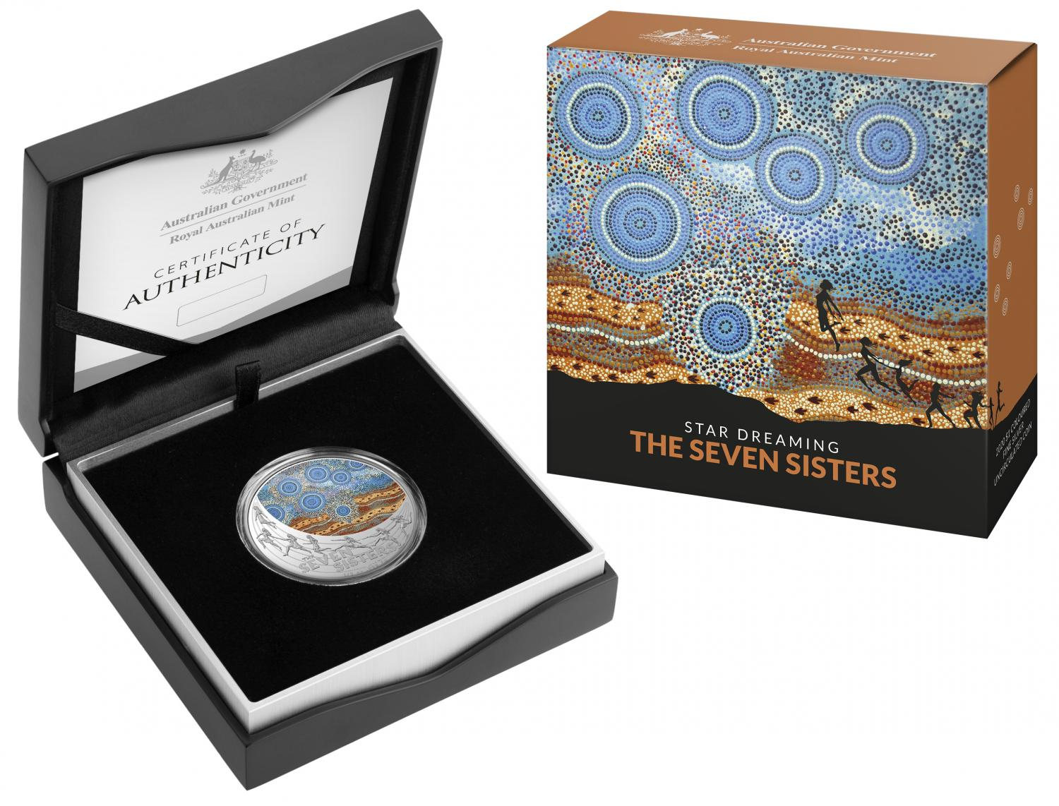 Thumbnail for 2020 Star Dreaming - The Seven Sisters $1 Coloured Half Oz Fine Silver UNC Coin