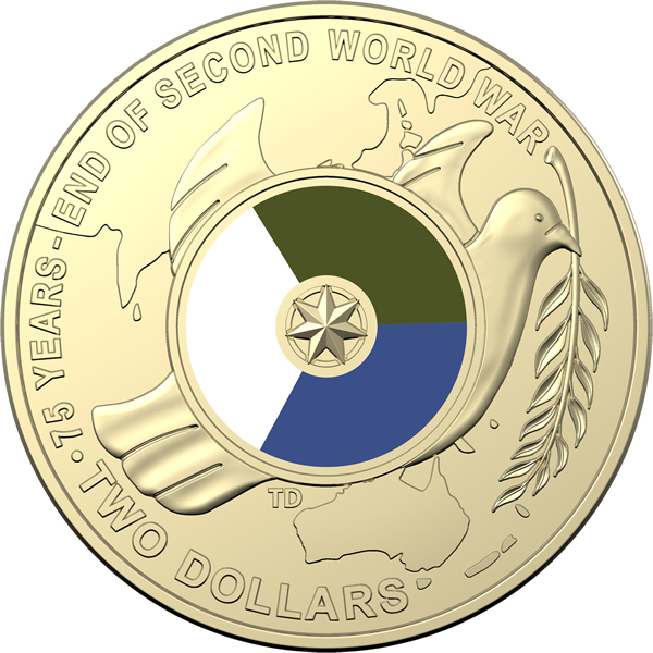 Thumbnail for 2020 $2 Coin Roll - 75th Anniversary of End WWII