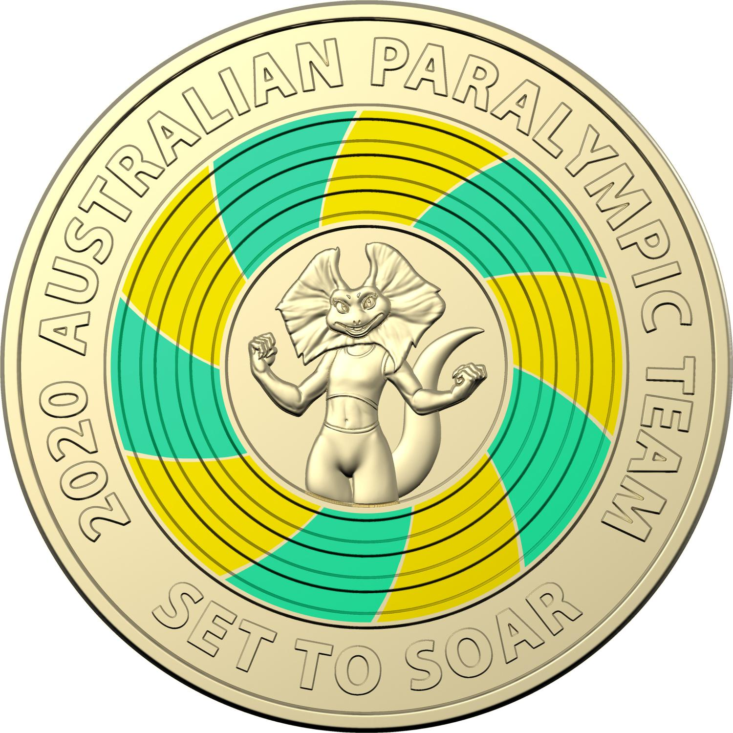 Thumbnail for 2020 $2 Tokyo Paralympics AlBr Coloured UNC Coin in Folder