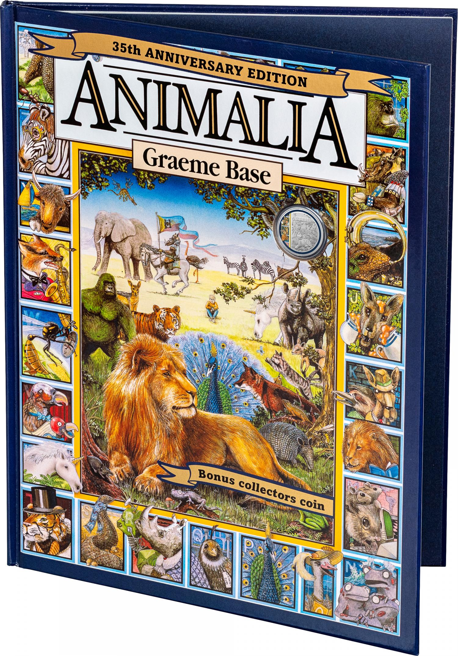 Thumbnail for 2021 .20¢ 35th Anniversary of Animalia CuNi Coloured UNC Coin with Special Edition Book