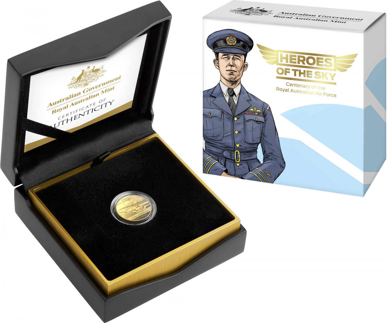 Thumbnail for 2021 Heroes of the Sky $10 Gold Proof 'C' Mintmark Coin