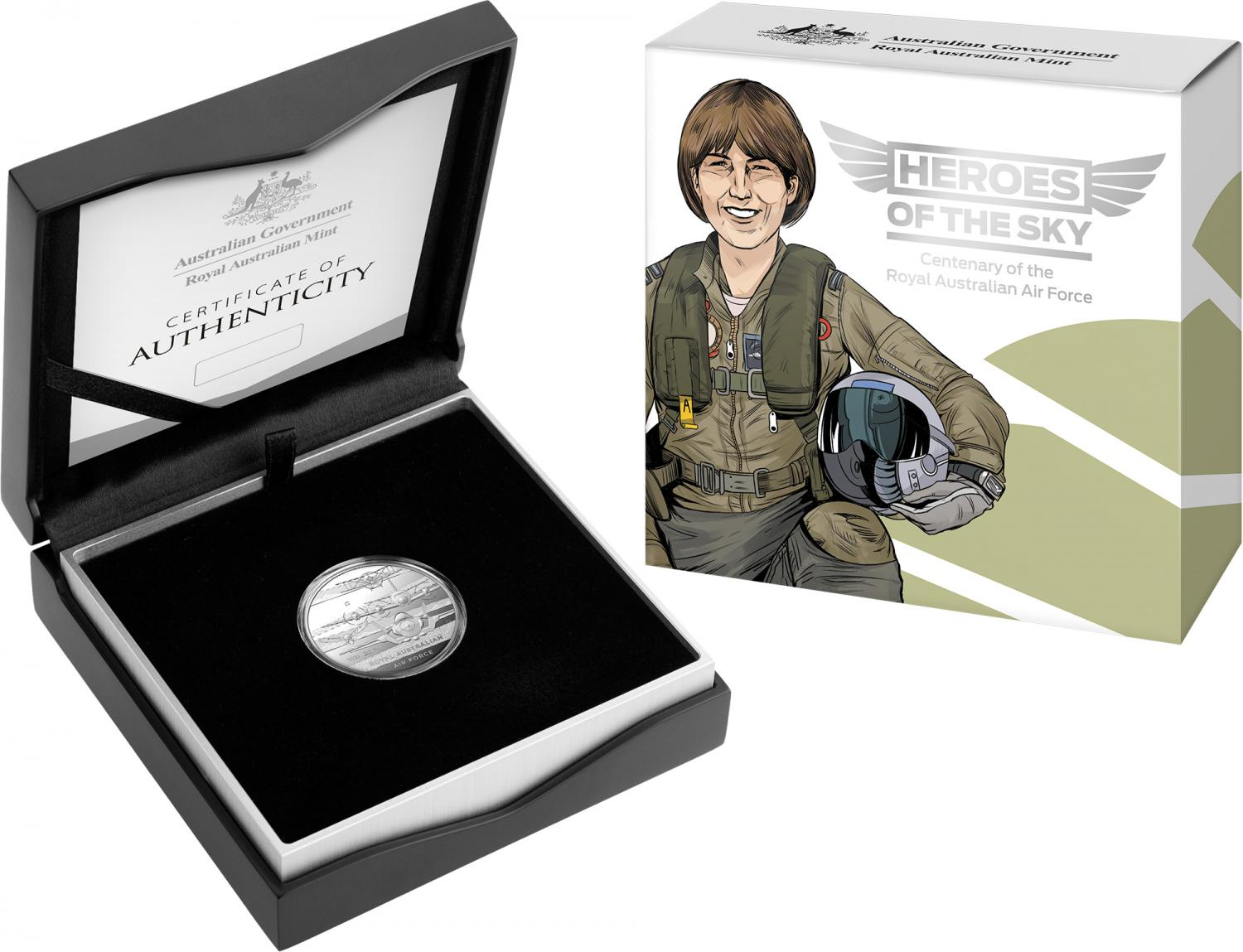 Thumbnail for 2021 Heroes of the Sky $1 Silver Proof 'C' Mintmark Coin