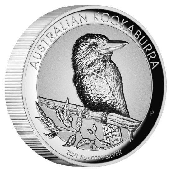 Thumbnail for 2021 Australian Kookaburra $8 5oz Silver Incused Coin