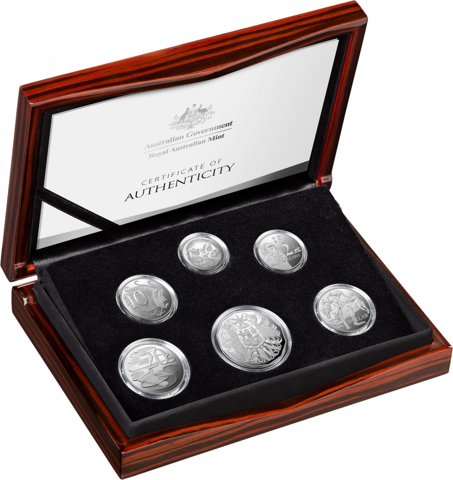 Thumbnail for 2021 Fine Silver Proof Six Coin Year Set