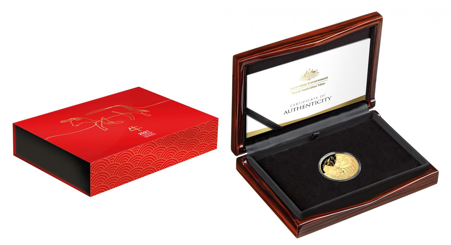 Thumbnail for 2021 Lunar Year of the Ox $100 1oz Gold Proof Domed Coin