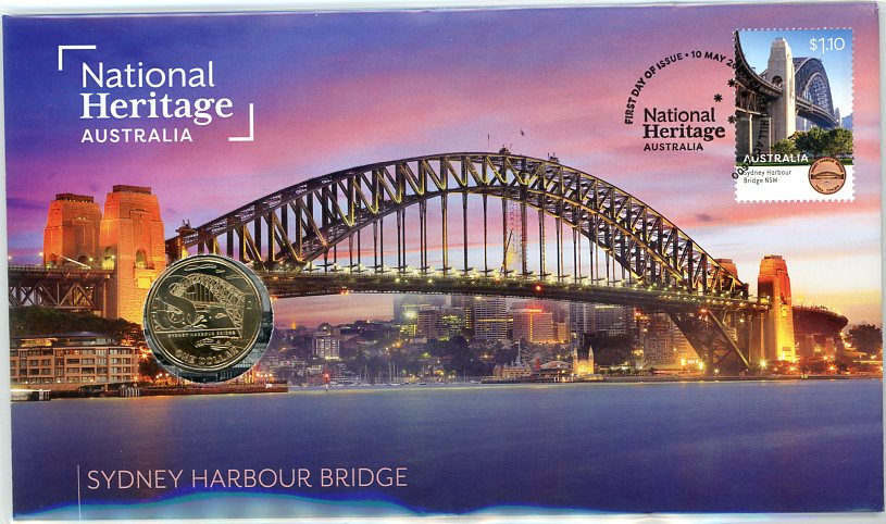 Thumbnail for 2021 Issue 23 - National Heritage Australia - Sydney Harbour Bridge PNC with RAM $1 'S' Sydney  - limited to 6,500