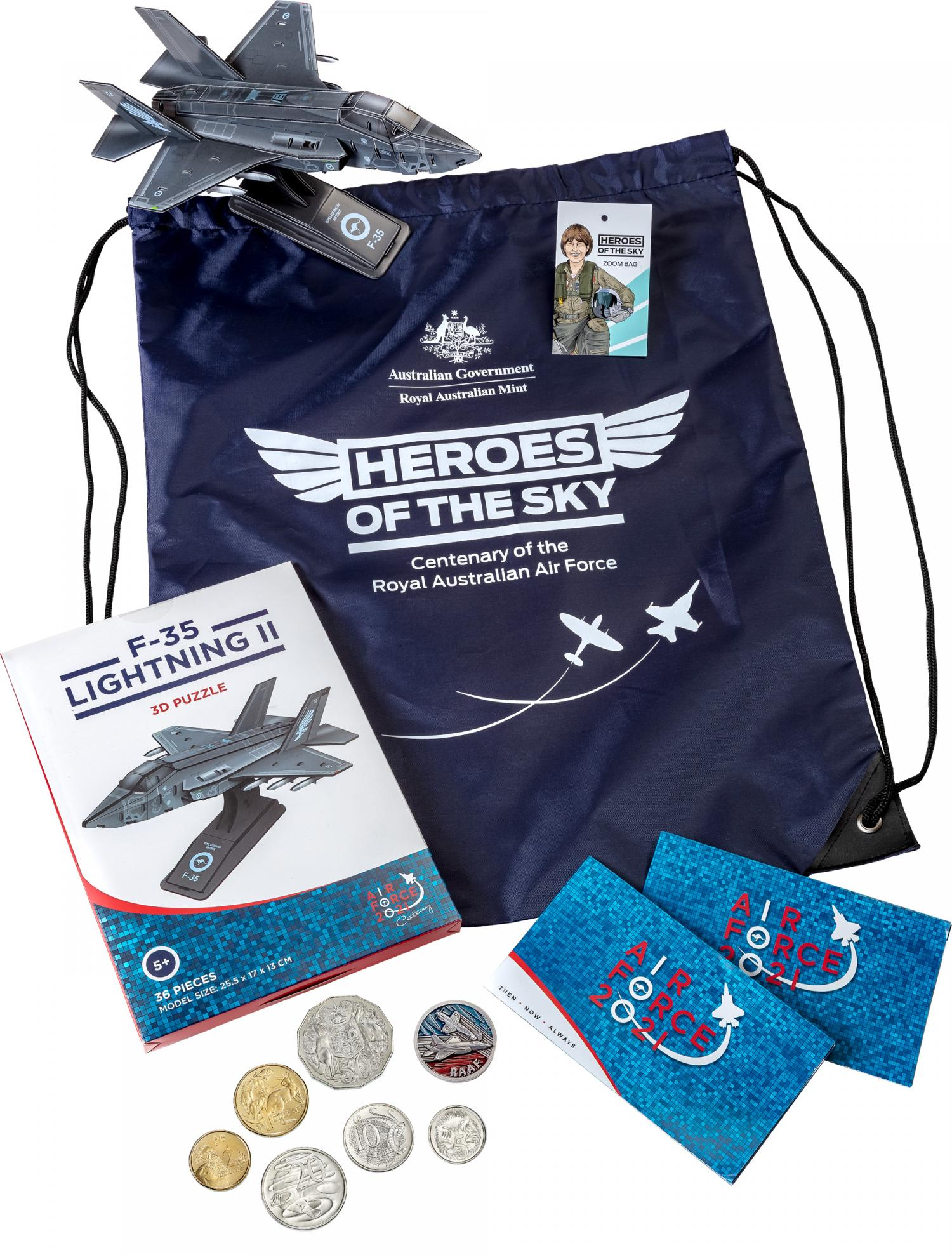 Thumbnail for 2021 Zoom Bag Heroes of the Sky with 6 Circulating Coins