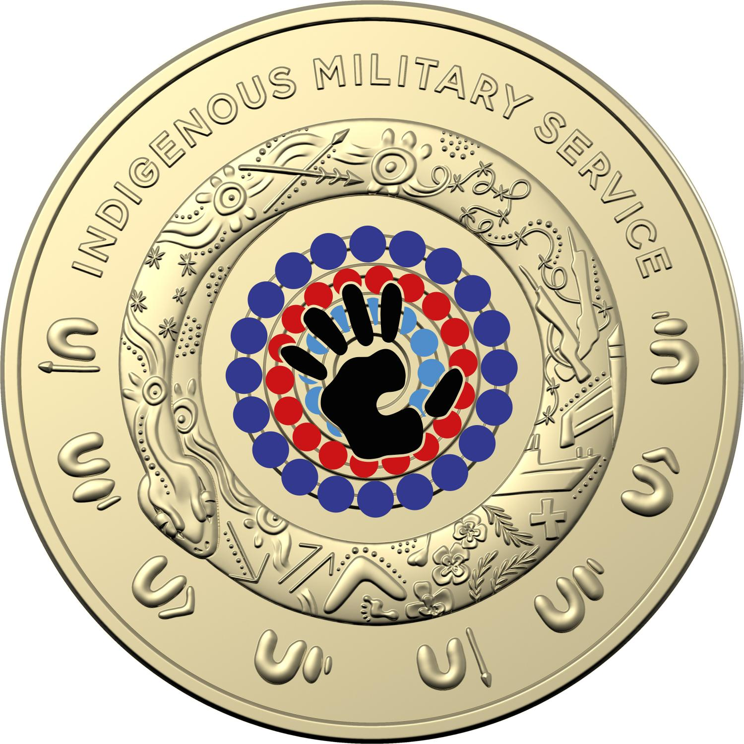 Thumbnail for 2021 $2 Indigenous Service AlBr Circulating RAM Official Coin Roll with Hologram sticker