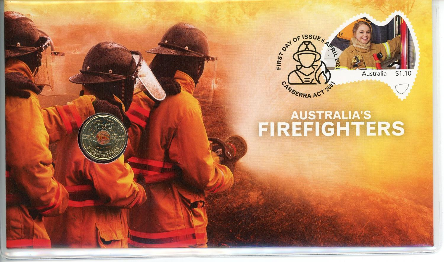 Thumbnail for 2021 Issue 3 - Australian Firefighters RAM Coloured $2 PNC