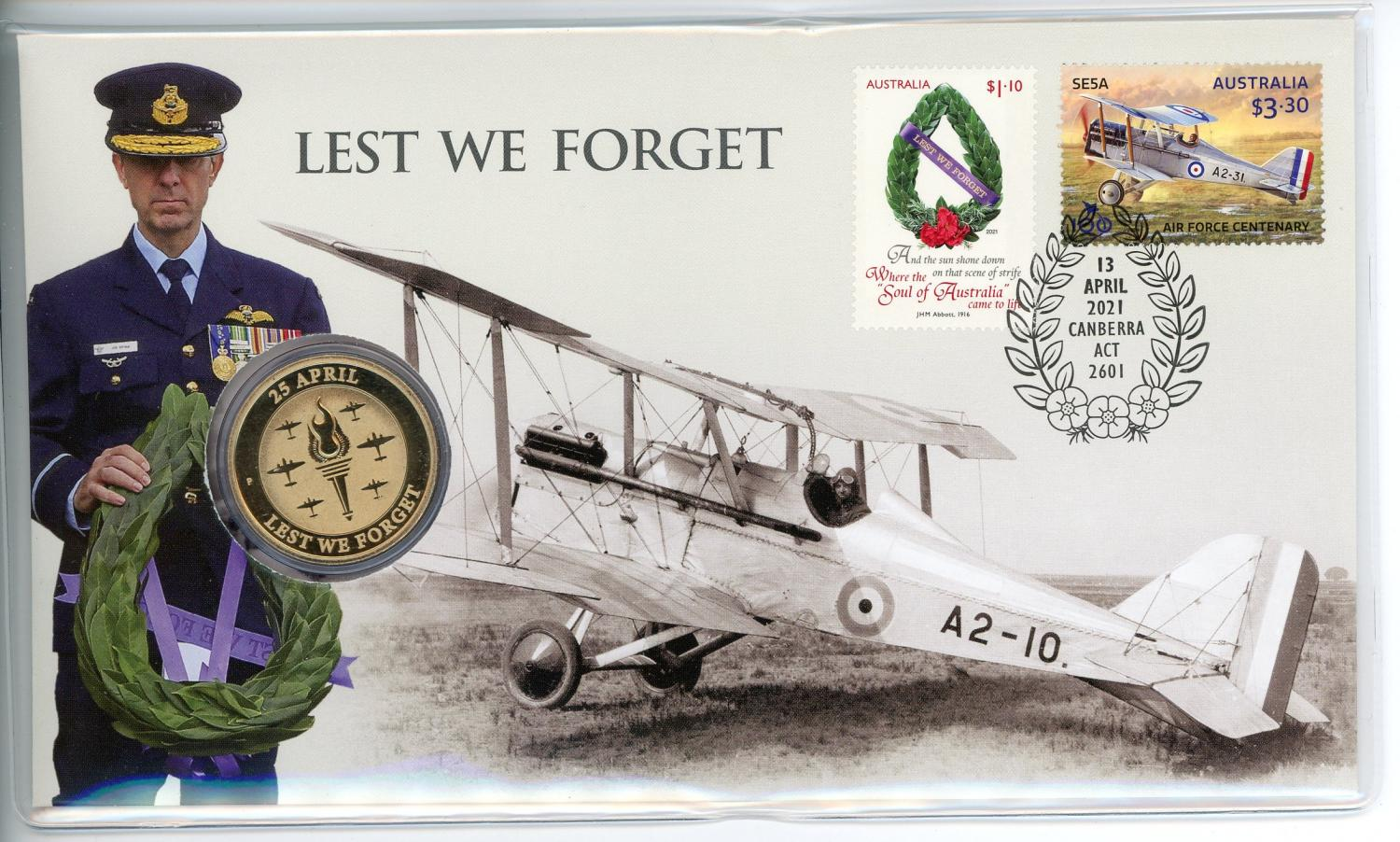 Thumbnail for 2021 Issue 19 $1 Perth Mint Lest We Forget  RAAF PNC
