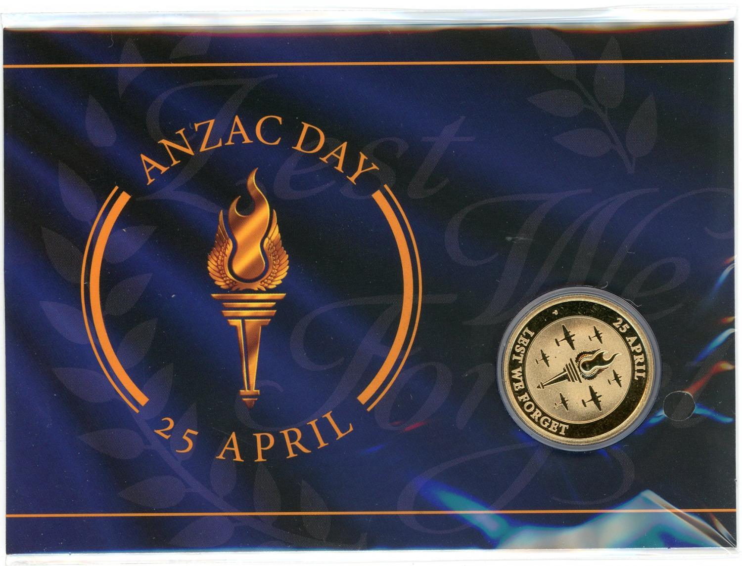 Thumbnail for 2021 Lest We Forget  - ANZAC Day 25 April - Perth Mint $1 AlBr Coin on Card