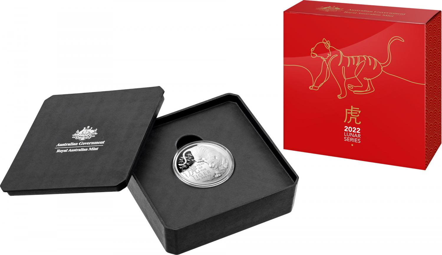 Thumbnail for 2022 $5 Lunar Year of Tiger Silver Proof Domed Coin