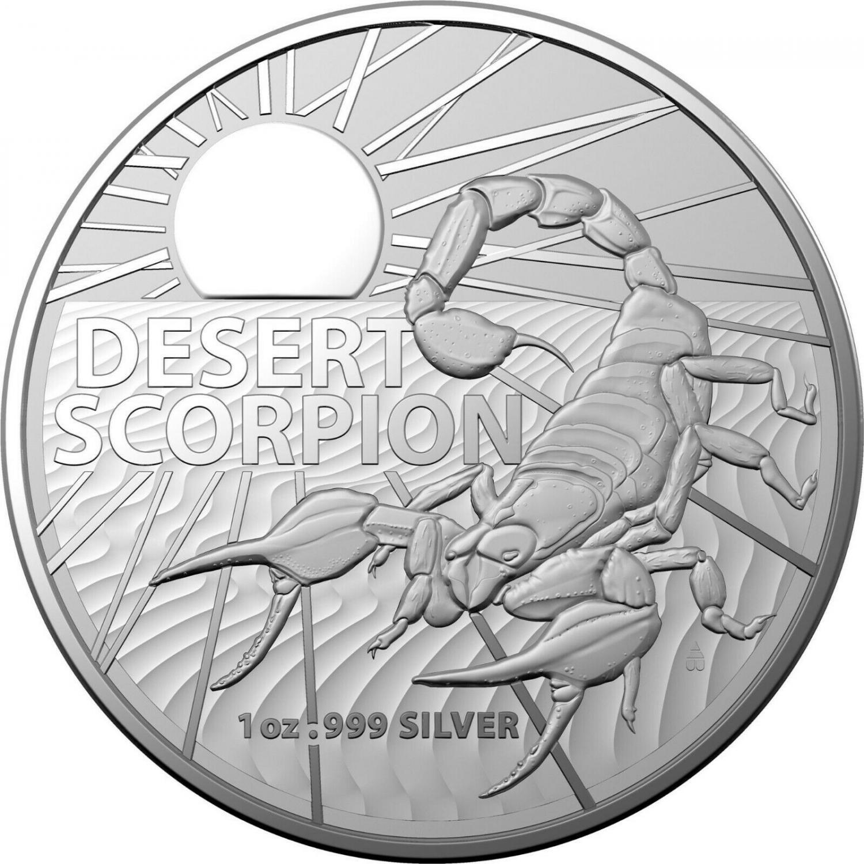 Thumbnail for 2022 $1 Australian Desert Scorpion 1oz Silver AG Bullion Coin in Capsule