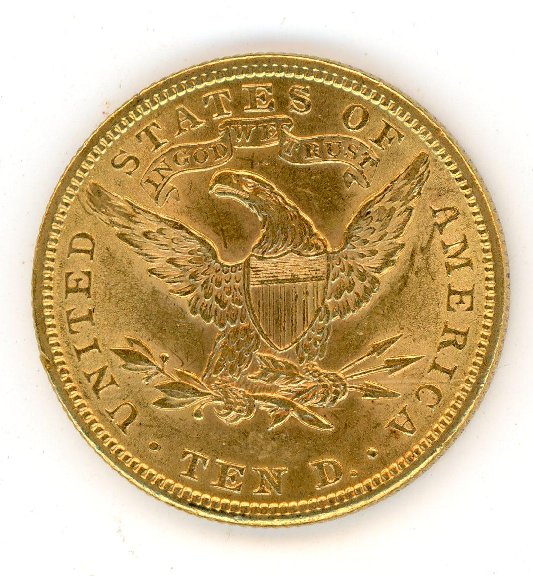 Thumbnail for 1901 United States Coronet Head Gold Ten Dollar
