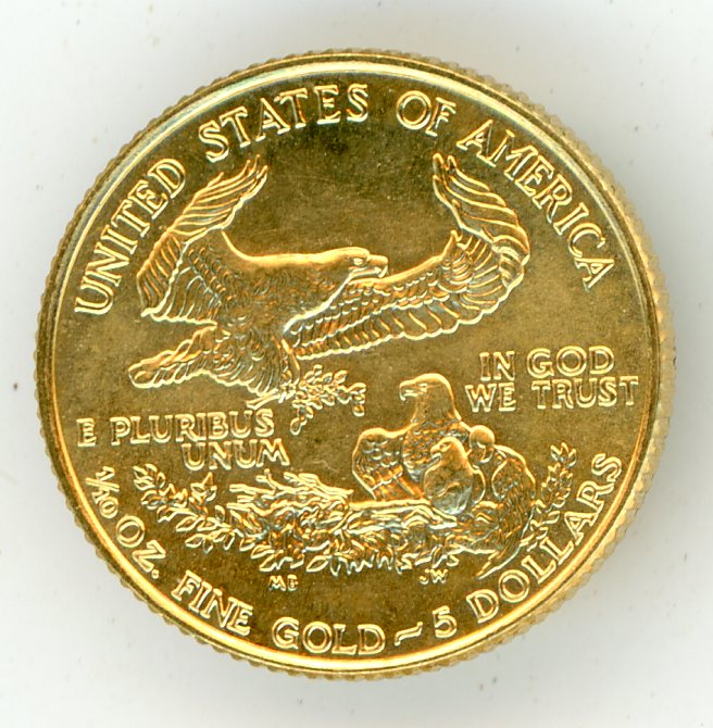 Thumbnail for 1991 American Tenth oz Gold Double Eagle