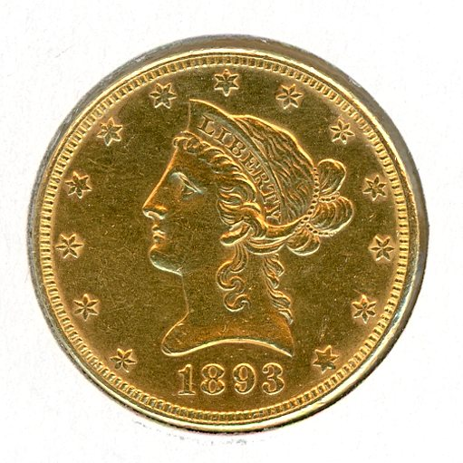 Thumbnail for 1893 Gold $10 Coin