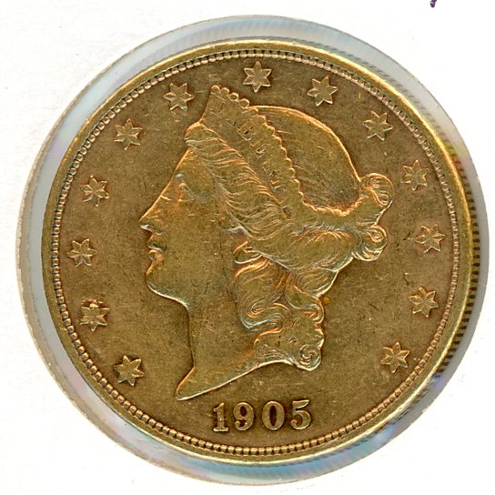 Thumbnail for 1905 S USA $20 Double Eagle
