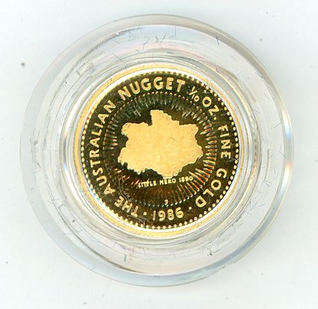 Thumbnail for 1986 Australian One Tenth oz Proof Nugget Coin - Little Hero