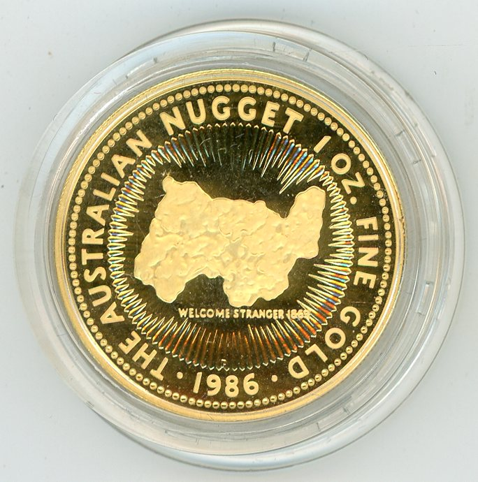 Thumbnail for 1986 1oz Proof Australian Nugget - Welcome Stranger 1869