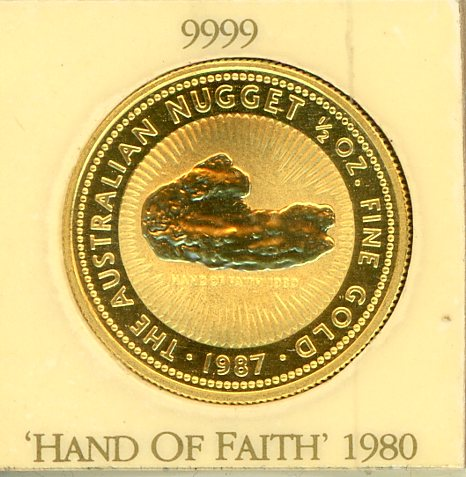 Thumbnail for 1987 Half Ounce Australian Nugget - Hand of Faith