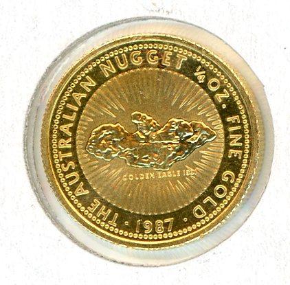 Thumbnail for 1987 One Quarter oz Australian Nugget - Golden Eagle