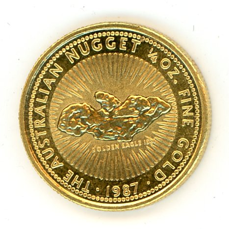 Thumbnail for 1987 One Quarter oz Australian Nugget Coin - Golden Eagle