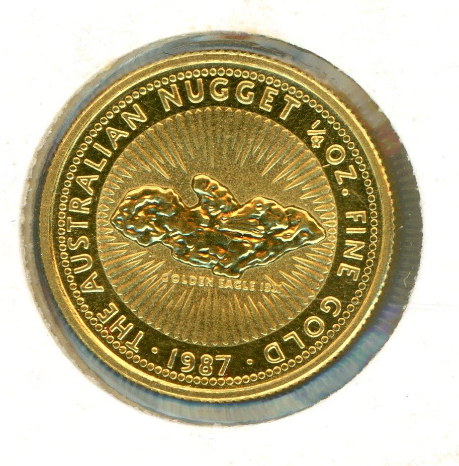 Thumbnail for 1987 One Quarter oz Australian Nugget - Golden Eagle 1931