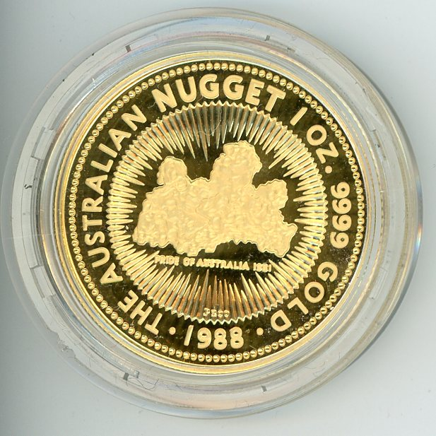 Thumbnail for 1988 1oz Proof Australian Nugget - Pride of Australia