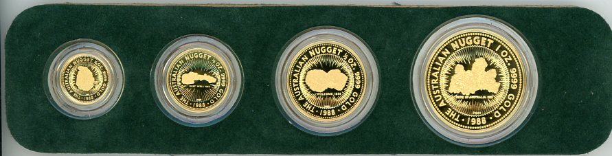 Thumbnail for 1988 Australian Gold Nugget Bicentennial Proof Set