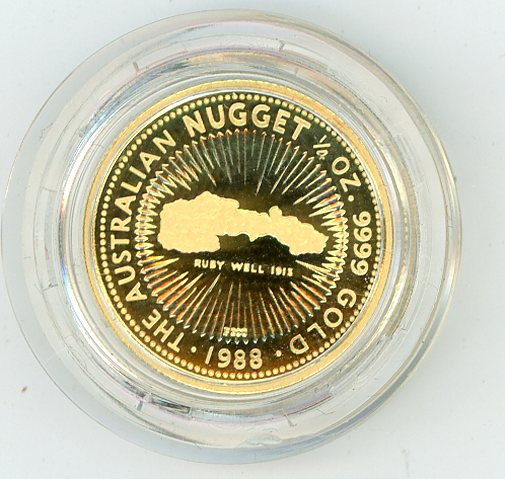 Thumbnail for 1988 One Quarter oz Australian Nugget - Ruby Well 1913