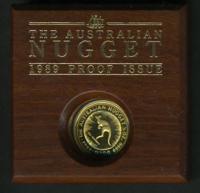 Thumbnail for 1989 Proof Australian One Quarter oz Nugget Coin