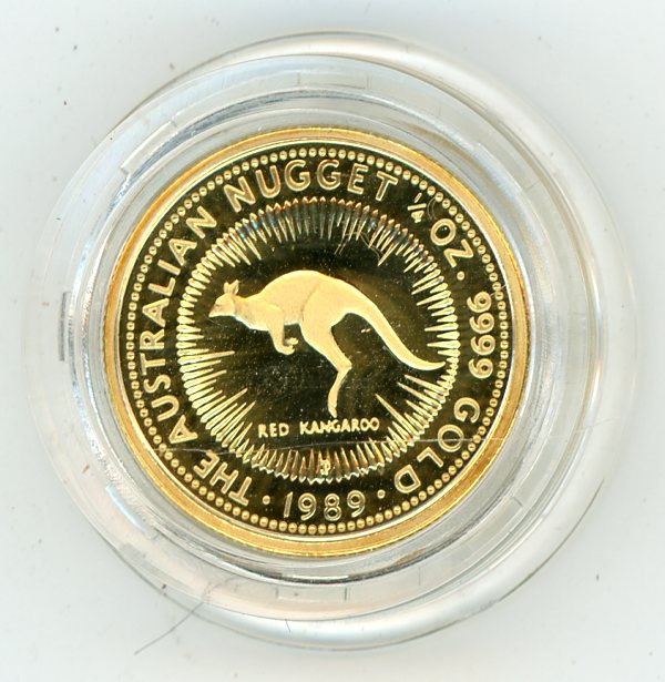 Thumbnail for 1989 One Quarter oz Proof Australian Nugget - Red Kangaroo