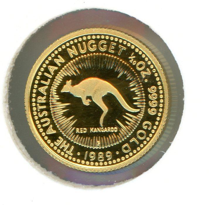 Thumbnail for 1989 One Twentieth oz Gold Proof Red Kangaroo