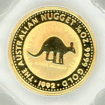 Thumbnail for 1992 One Tenth oz Gold Nugget - Common Wallaroo
