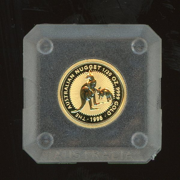 Thumbnail for 1996 One Twentieth oz Gold Kangaroo in Capsule